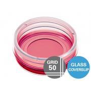 µ-Dish 35 mm, high Grid-50 Glass Bottom