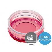µ-Dish 35 mm, high Grid-500 Glass Bottom