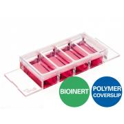 µ-Slide 4 Well Bioinert, Polymer Bottom
